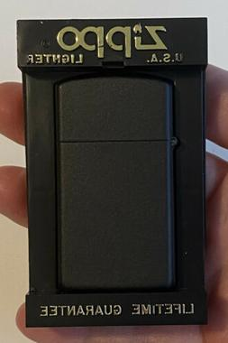Zippo 1618 Slim Black Matte Lighter - New In Box