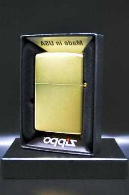 24 Karat  Gold Plated Zippo® Lighter with Satin Finish - Ma
