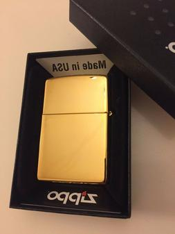 24k Gold Plated Genuine Zippo Lighter Classic Gift 24ct Made