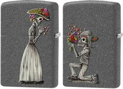 Zippo 2 Piece Lighter Set, Day Of The Dead Skeleton Love, 28