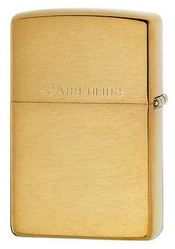 Zippo Brushed Brass Lighter, WIth Solid Brass, Item 204, New