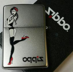 Zippo Lighter Red Shoe Girl Pin Up Heels New In Box Limited