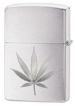 Zippo Windproof Laser Engraved Marijuana Leaf Lighter, 29587