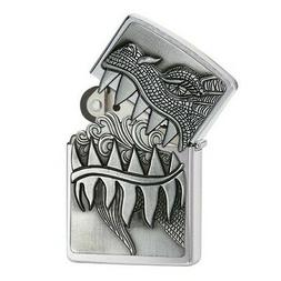 Zippo Choice Dragon Teeth Brushed Chrome 28969 Lighter