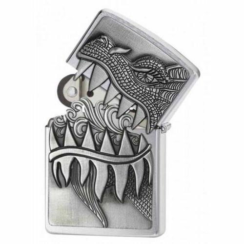 Zippo Choice Dragon Brushed Chrome 28969 Lighter