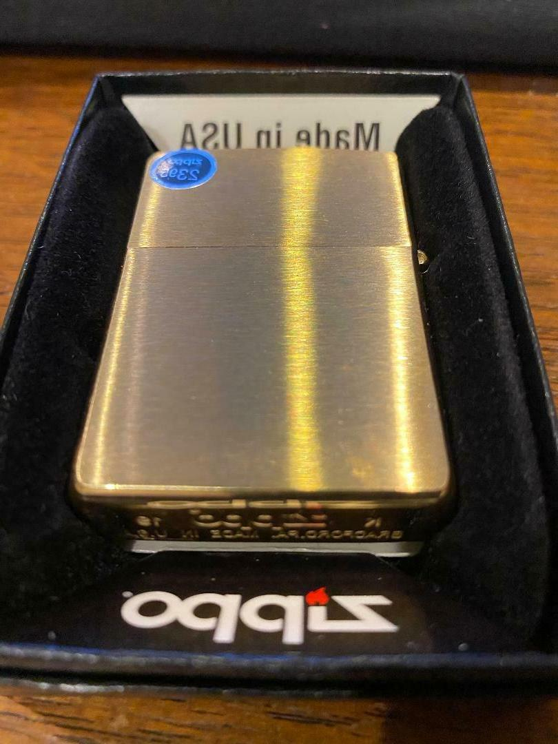 windproof brushed brass lighter 204b new in