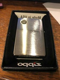 Zippo Lighter 200 BRUSHED CHROME Windproof  Guaranteed for L
