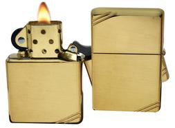 Zippo Lighter 270 Vintage 1937 With Slashes High Polish Bras
