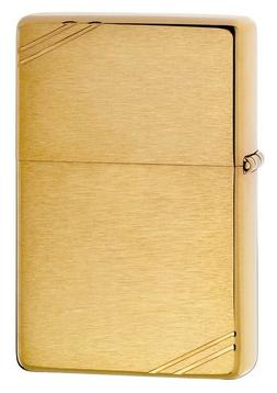 Zippo Vintage Brushed Brass, 1937 Replica Lighter,  240, New