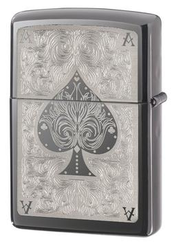 Zippo Windproof Black Ice Ace Of Spades Lighter, 28323, New