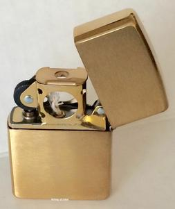 Zippo Windproof Brushed Brass Pipe Lighter, 204BPL, 204B Pip